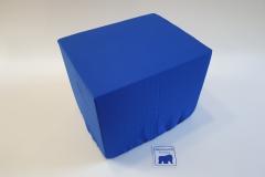 Bandscheibenwürfel mit Bezug Royalblau